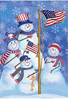 dtzzou snowman christmas garden flag 12 x 18 outdoor indoor decorative double sided - Blow Up Camper Christmas Decoration