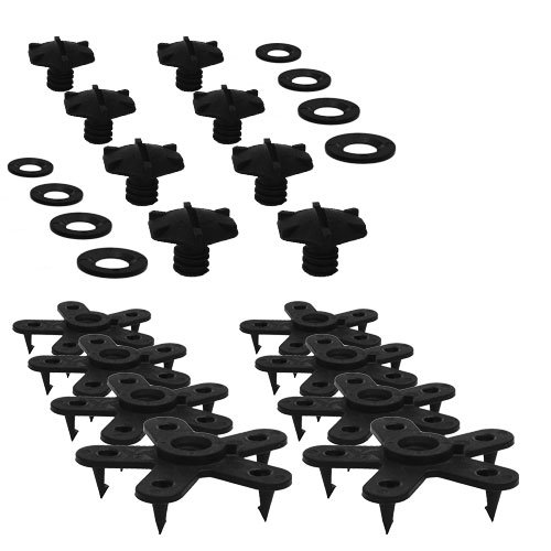 Eagle Klaw - Floor Mat Clips Set of Anti-Slip Fixing Retainers for Car Mats - Made in USA - Black - Pack of 8 for 4 Mats (Without Cutter) ()