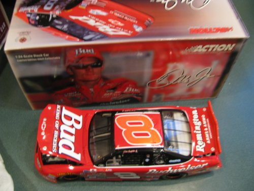 2000 Dale Earnhardt Jr #8 Budweiser Rookie Yellow Stripes No Bull Paint Scheme Car Richmond Va Action Racing Collectables 1/24 Limited Edition Hood Opens Trunk Opens HOTO ARC Produced in 2003 (Action Racing Collectables Hood)