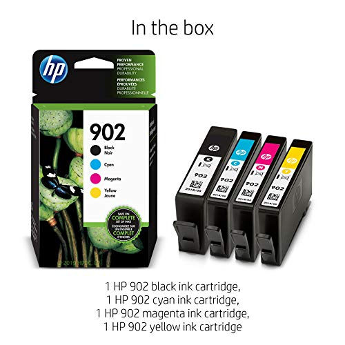 HP 902 Black, Cyan, Magenta & Yellow Ink Cartridges, 4 Cartridges (T6L98AN, T6L86AN, T6L90AN, T6L94AN) Photo #13