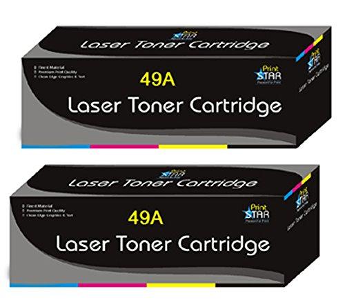 PrintStar 49A Black Toner Cartridge Pack of 2 Compatible for HP 49 A / Q5949A Single Color Toner  Black