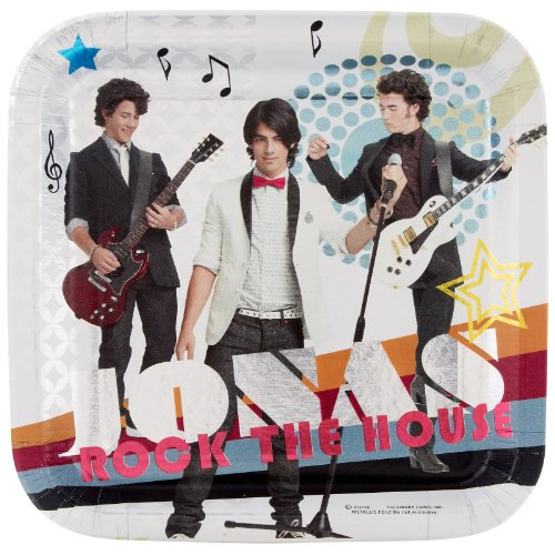 Jonas Brothers Large Sq. Paper Plates (8ct) -