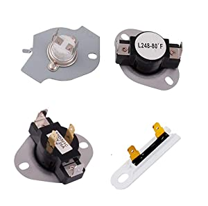 279769 Dryer Thermal Cut-Off Kit, 3387134 Dryer Thermostat and 3392519 Dryer Thermal Fuse for Whirlpool Kenmore Maytag Dryer Replaces 3977394 3390291 PS345113 AP6008325