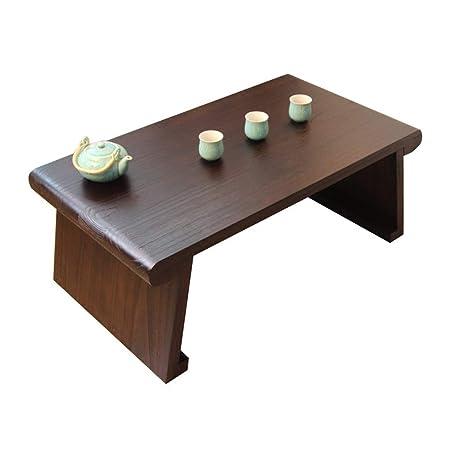 Mesa de centro FFF8 de madera maciza con ventana, mesa de tatuami ...