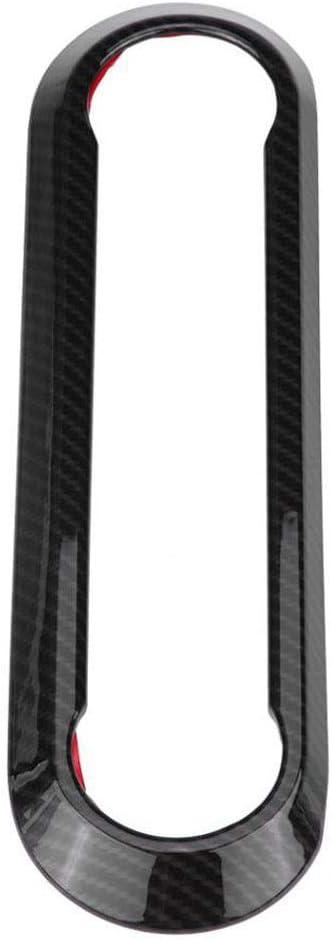 Perilla de Aire Acondicionado Carbono Marco de la Consola Central Panel Trim Cover Sticker Fit para Alfa Romeo Stelvio 2017 2018 Giulia 2016-2018 DAETNG Pegatinas Decorativas del Interior del Coche