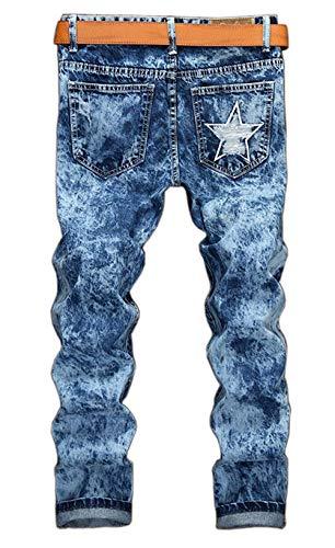 Moda Classici Degli Strappati Pantaloni Alla Cher Hig Effetto Jeans Invecchiato Giovane Denim Tutto 777asche Vita Fori Uomini Mens Motociclisti ZBYxqnBEw