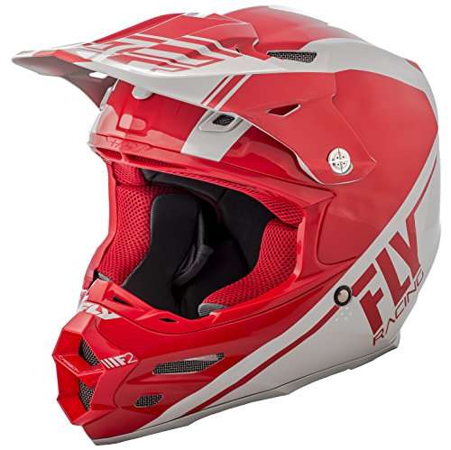 FLY RACING F2 CARBON REWIRE HELMET RED/GREY LG -