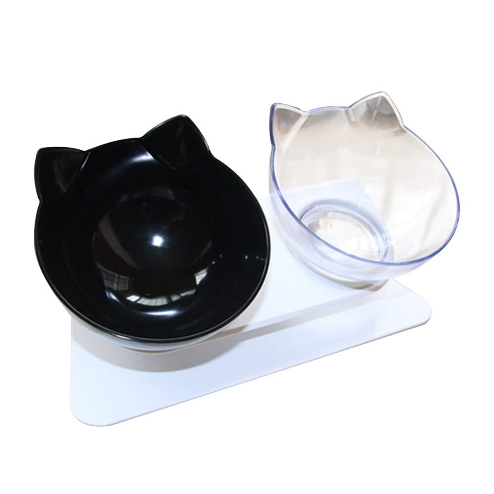 C2 Water Feeder Dish Double Non-Slip Pet Bowl for Pets Feeding Supplies