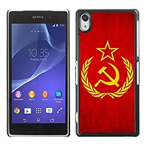 Shell-Star ( National Flag Series-Soviet Union ) Snap On Hard Protective Case For SONY Xperia Z2 / D6502 / L50W