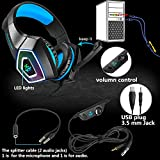Xbox One Headset with Mic LED Light On Ear Gaming
