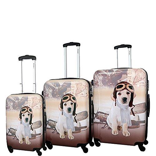Chariot 3-Piece Hardside Lightweight Spinner Luggage Set,...