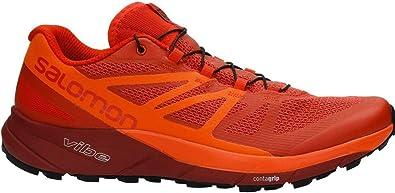 SALOMON - Zapatillas para Hombre Trail Running Sense Ride A5 Rojo 44 2/3: Amazon.es: Zapatos y complementos