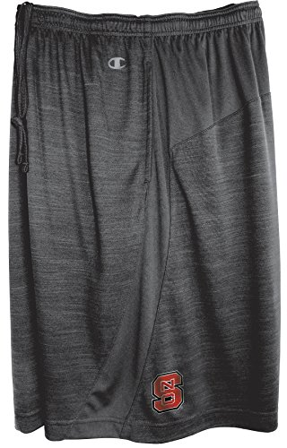 NCAA North Carolina State Wolfpack Men's Against The Grain Training Shorts, X-Large, True Black