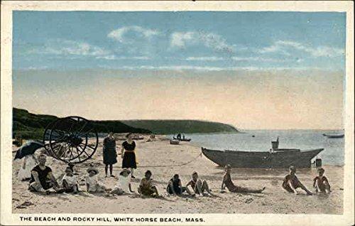 - The Beach and Rocky Hill White Horse Beach, Massachusetts Original Vintage Postcard