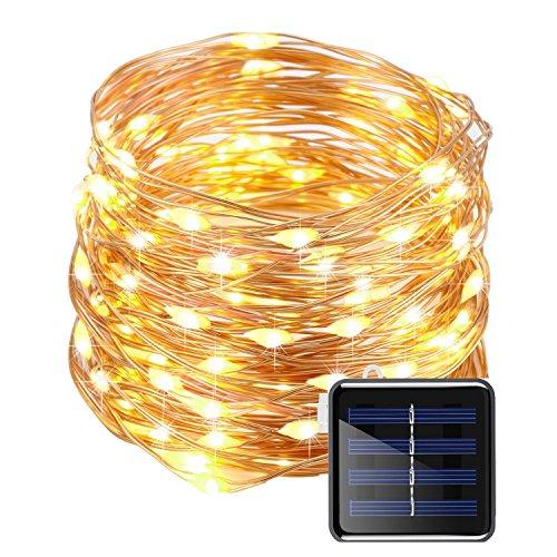 50 Led Solar Rope Lights White - 5