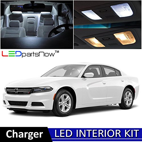 Dodge Charger Light - LEDpartsNow 2015-2018 Dodge Charger LED Interior Lights Accessories Replacement Package Kit (17 Pieces), WHITE