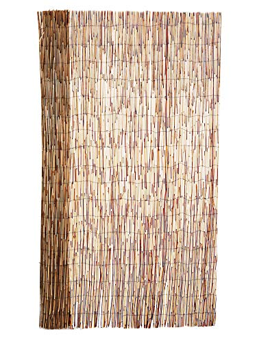 FOREVER BAMBOO Reed Fencing for Garden and Backyard Landscape, Coffee, 6' H X 16' L (2-Pack) (Willow Landscaping Gates)