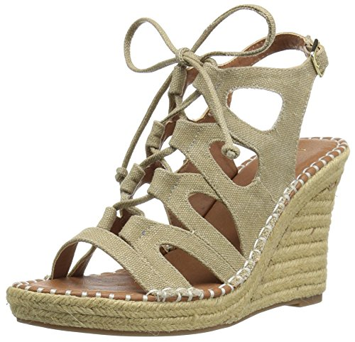 Sugar Women's Hula Espadrille Wedge Sandal Natural Canvas iIZjbiCR