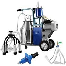 Forkwin Milking Machine for Cows and Goats Milker Machine with Capacity of 10-12 Cows per Hour Milker with 25L Milking Bucket Milk Machine Electric