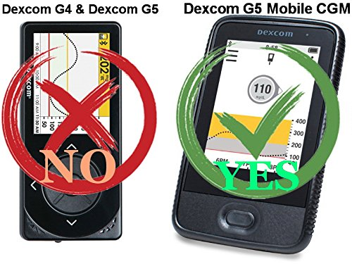 (Black/Vertical/1) Premium Classic Style Nylon Pouch case with 360° Rotation Belt Clip for Dexcom G5 Mobile CGM Receiver (Mobile Continuous Glucose Monitoring)