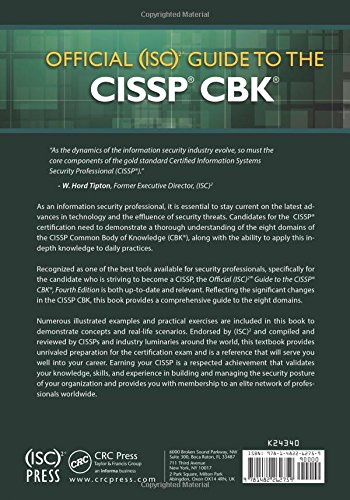 Buy Official (ISC)2 Guide to the CISSP CBK ((ISC)2 Press) Book ...