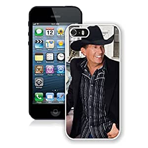 New Unique Designed Cover Case For iPhone 5S With George Strait iPhone 5s White Phone Case 170