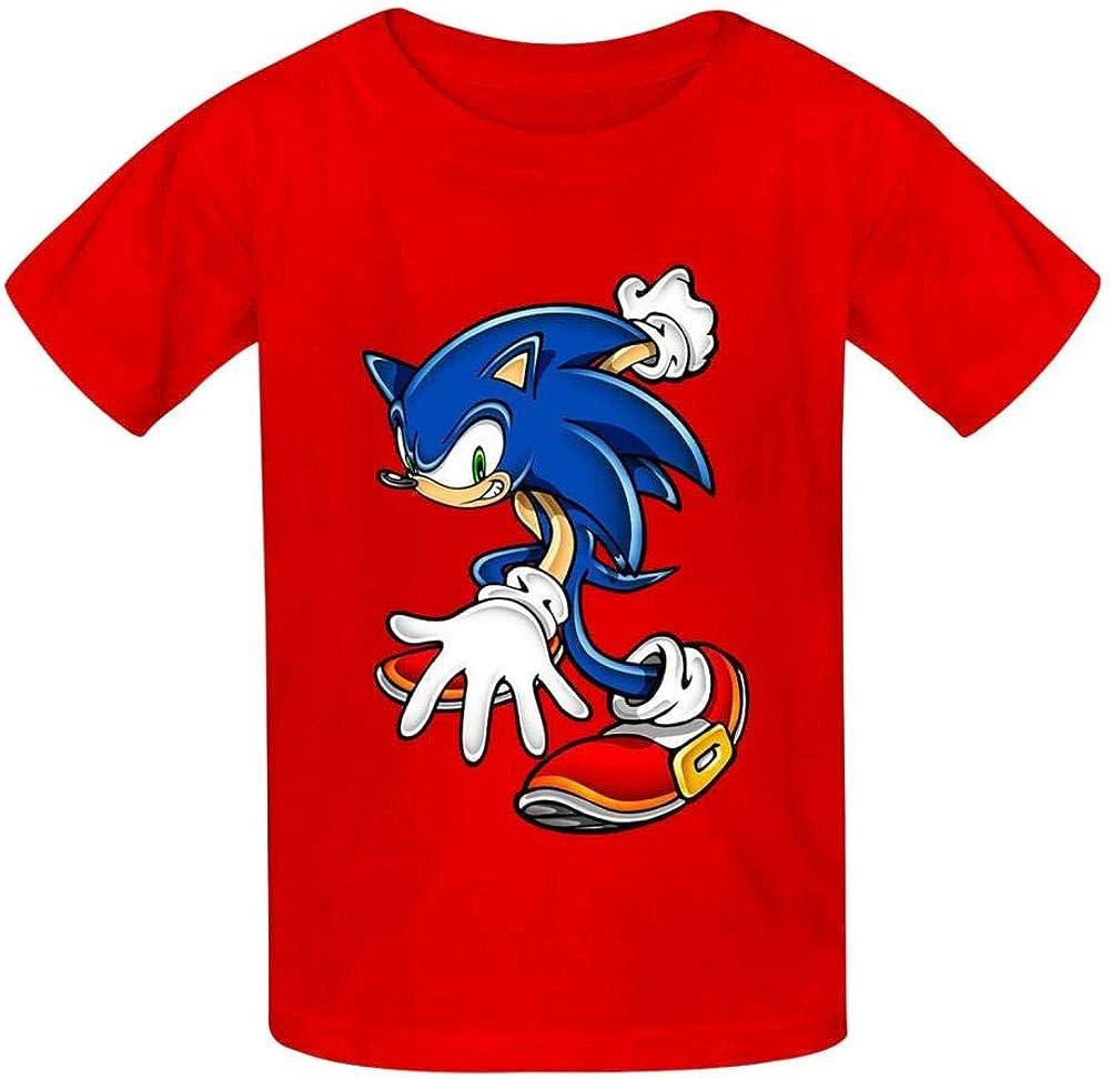 PHD BRU-NO Sonic Youth Kids Cotton T-Shirts Summer Slim-fit Printed Fashion Tee