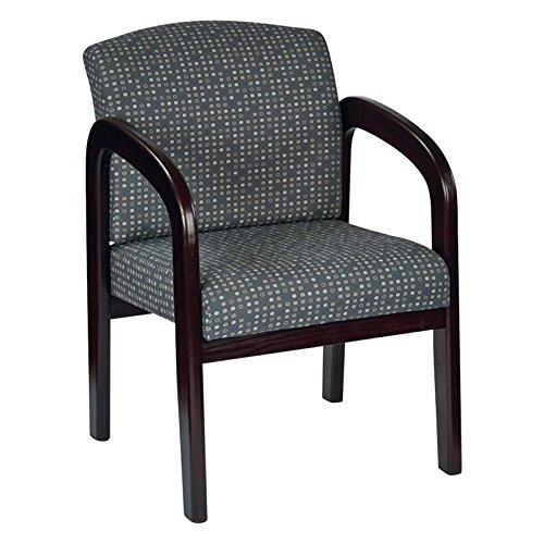 - Work Smart WD383-K102-osp Fabric Mahogany Finish Wood Visitor Chair, Ash