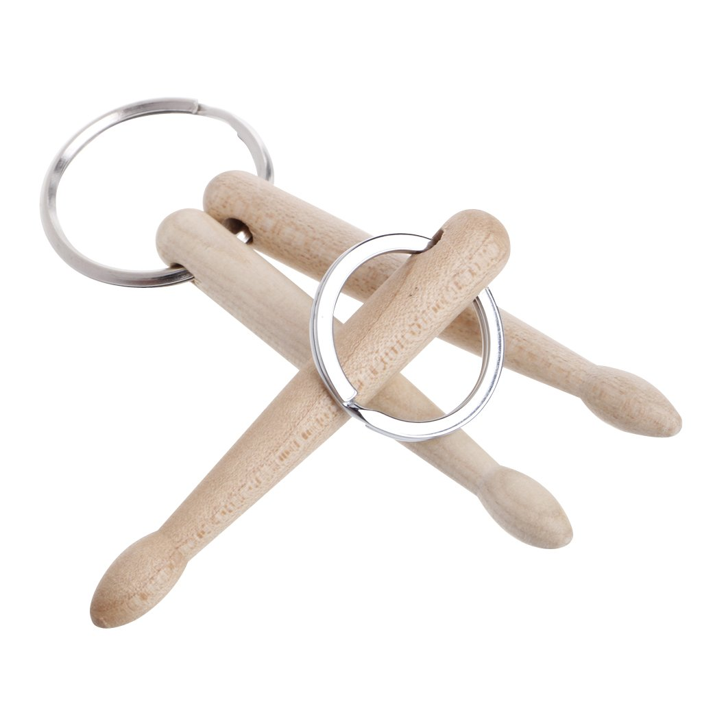 lovup Mini baquetas baquetas de madera de llavero clave ...