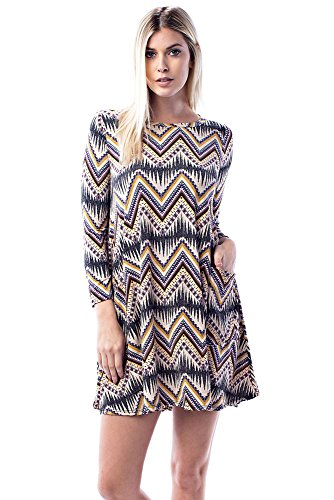 Zig Zag Tunic Dress - 7
