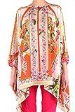 Piccione Piccione Women's Ppk4022303 Multicolor Silk Poncho