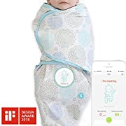 Sense-U SMART Swaddle Blanket with Integrated Breathing Movement Monitor that Alerts You for No Breathing, Stomach Sleeping, Overheating and Getting Cold with Audible Alarm from your Smartphone(Small)