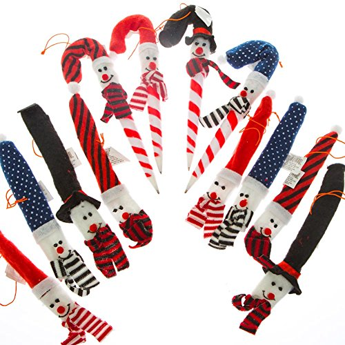 Fun Express Holiday Snowman Candy Cane Cover Ornaments Candy Cane Cover Ornaments