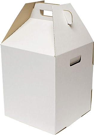 Caja para Tartas de Nivel Especial, 10 Unidades – 12 x 12 x 14 Pulgadas Color Blanco para Transportar Tartas, Cajas de 2 y 3 Niveles para Tartas: Amazon.es: Hogar