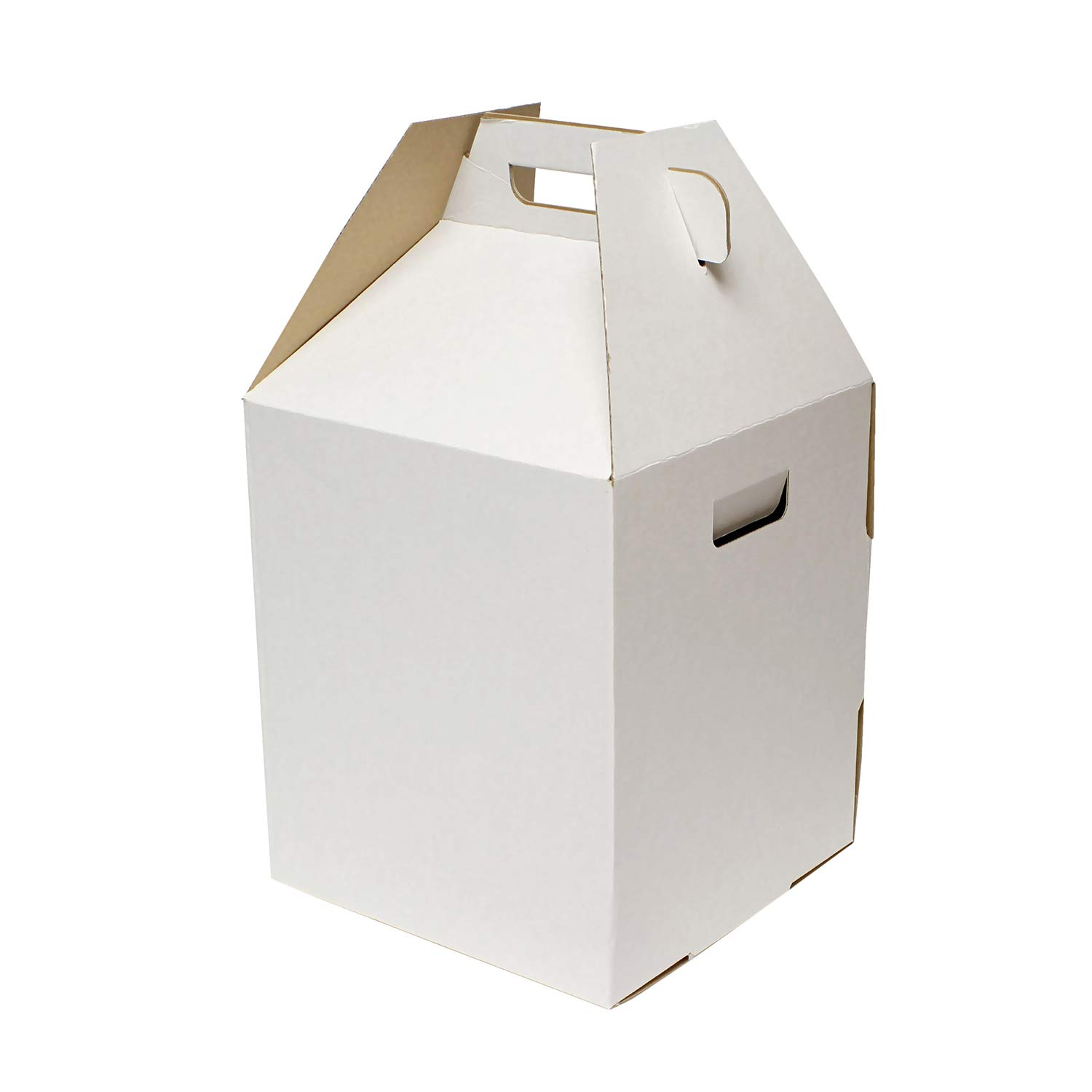 SpecialT Tiered Cake Box, 10 Pack - 12 x 12 x 14 Inch White Cake Transporter Boxes, 2 and 3 Tier Cake Box