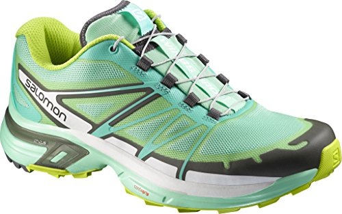 Lucite Bubble - Salomon Women's Wings Pro 2, Lucite Bubble Blue/Gecko Green, 10.5