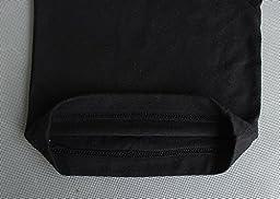 MUSCLE ALIVE Mens Bodybuilding Baggy Pants Cotton Size L Black
