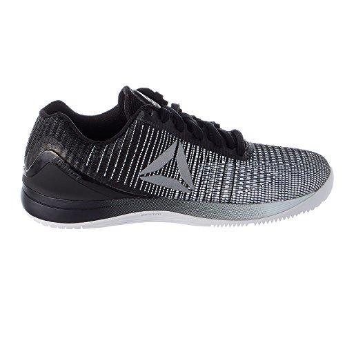 Reebok Women's CROSSFIT Nano 7.0 Track Shoe, White/Black/Silver Metallic, 7.5 M US