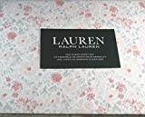 Lauren 4 Piece Queen Size Floral Print Sheet Set Pink and Gray 100% Cotton