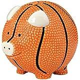 Enesco Basketball Piggy Bank, Ceramic, 4.25 inches,...