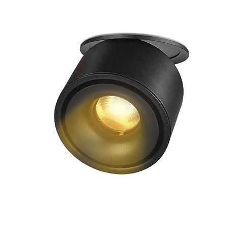 LANBOS 10W LED Luz de Techo Lamparas Focos LED Empotrables Techo LED Downlight, Agujero Φ90-95MM, IP20, 10X8CM, (Negro+blanco cálido)