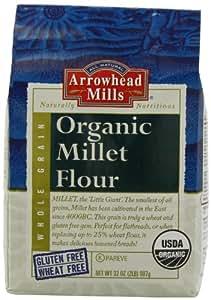 Amazon Com Arrowhead Mills Organic Millet Flour 2 Pound