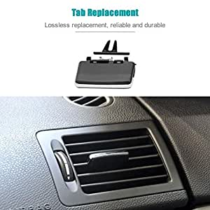 KKmoon Fresh Air Grille Clip Air Conditioning Vent Outlet Tab Clip Wind Direction Plectrum Knob for Benz W204 X204 C200 GLK300