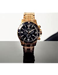 Men's SP13066 Tarsis Pro Black Dial Rose-Gold Stainless-Steel Band Watch