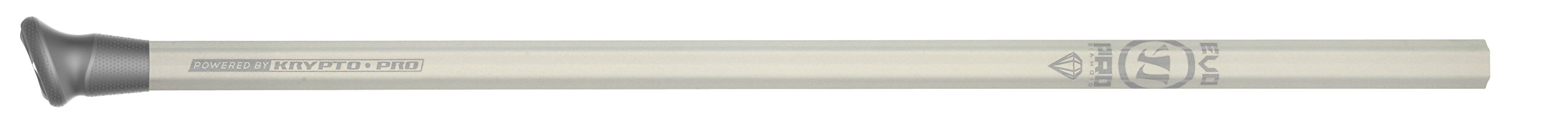 Warrior Evo Pro Diamond Defense Handle Lacrose Shaft, Silver