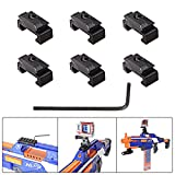 Fantaseal® Picatinny Rail Adapter for Nerf to Picatinny Gun Rail Adapter Mount 18mm-21mm Hardpoint MOD Kit Nerf Gun Attachment Nerf Gun Accessories Nerf Gun Mount Air Soft Gun Mount for Nerf Blaster Standard Military Tactical Gear Scope Sight Led Flash Light Night Vision Device etc -Solid 3D Version (6 pcs)