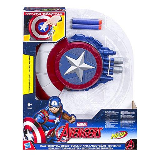 Hasbro – Marvel – Avengers – Bouclier Lance-Fléchettes Secret– Bouclier et Fléchettes Nerf B9943EU4