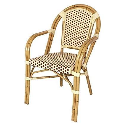 Bolero Continental Bistro mimbre sintética sillas - Pack de ...