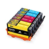 IKONG 364XL Replacement for HP 364 Ink Cartridges Compatible with HP Deskjet 3070a 3520 3524,Officejet 4620 4622,Photosmart 5510 5520 5524 5514 7510 7520 5515 5522 6510 4622 b110a b109a (2C,2M,2Y)