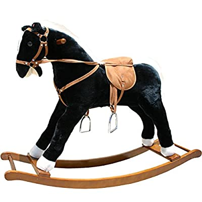 Large Plush Rocking Horse